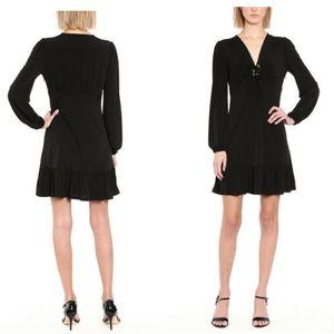 💖Michael Michael Kors Ruffled Lace-Up Dress